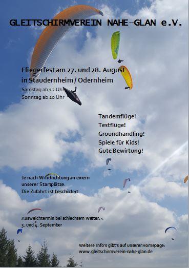 Flyer Fliegerfest 2016