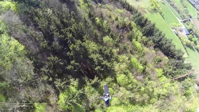 Gleitschirm fliegen am Nordhang in Hochstetten Dhaun